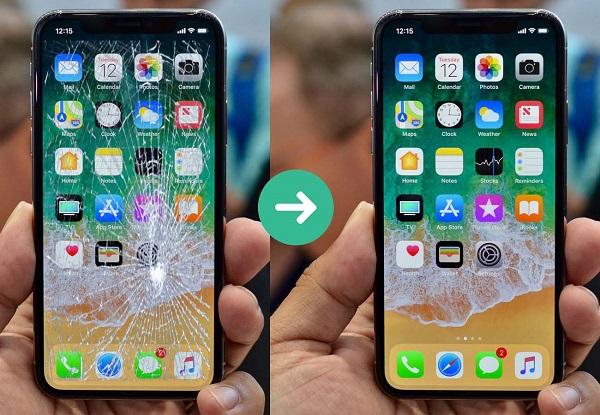 Ép          bí mậth điện thoại trước và sau